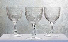 3 verres à eau service Maintenon en cristal de Baccarat