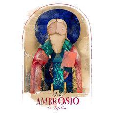 """La Santeria on Instagram: """"Hoy celebramos a San Ambrosio de Milán, obispo y padre de la Iglesia fue un importante teólogo y es debido a un milagro en su infancia con…"""" Angeles, Christmas Ornaments, Holiday Decor, Instagram, Father, Infancy, Angels, Christmas Ornament, Christmas Topiary"""
