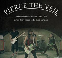 Great band great music great quotes (band :pierce the veil , song: king for a day ft.Kellin quinn)
