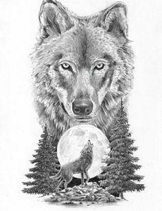 wolf tattoo design Leg is part of Best Wolf Tattoos Designs And Ideas - Wolf on moon tattoo design Wolf Tattoos, Head Tattoos, Animal Tattoos, Body Art Tattoos, Sleeve Tattoos, Tattoo Arm, Tattoo Feather, Wolf Tattoo Sleeve, Circle Tattoos