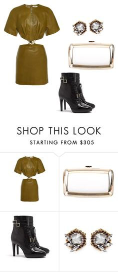 """""""Untitled #2160"""" by loveparis7 ❤ liked on Polyvore featuring Thierry Mugler, Roger Vivier, Burberry and Erickson Beamon"""