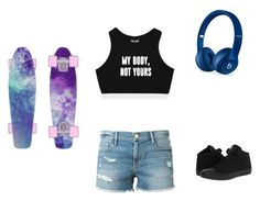 """It's My Body, Not Yours"" by demonlover2002 ❤ liked on Polyvore featuring Minga, Frame, Beats by Dr. Dre and Converse"
