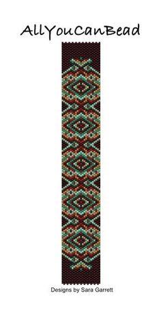 Peyote Bracelet Pattern 200c Bead Weaving INSTANT di AllYouCanBead
