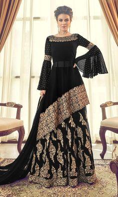 Party wear dresses - Buy Dark Purple Silk Lehenga with Silk Choli Online – Party wear dresses Indian Gowns Dresses, Eid Dresses, Bridal Dresses, Fashion Dresses, Party Wear Indian Dresses, Pakistani Dresses Party, Pakistani Fashion Party Wear, Bridal Hijab, Dress Party