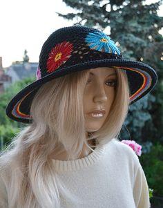 Women Slouchy Hat  Cute Crochet Summer Hat  Cute by DosiakStyle