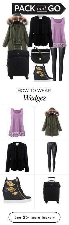 """""""Easy Winter Travel Chic"""" by tardisblueimpala-221b on Polyvore featuring 10 Crosby Derek Lam, Kate Spade, Giuseppe Zanotti, Chloé, Winter, Packandgo and winterstyle"""