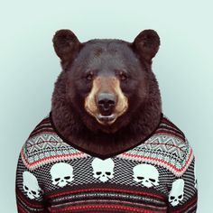 Graphic artist Yago Partal has created a series of Zoo Portraits featuring animals like sloths, otters, and pugs wearing sweaters, suits, and leather jackets. Prints and greeting cards of these Zoo...