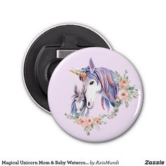 Magical Unicorn Mom & Baby Watercolor Bottle Opener Unicorn Mom, Magical Unicorn, Horse Riding, Mom And Baby, Party Hats, Art Pieces, Bottle Openers, Fancy, Watercolor