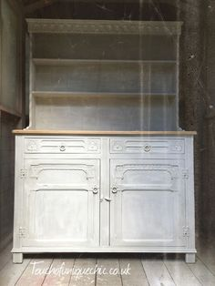 Vintage Welsh Dresser Hand Painted Grey Delivery Available Ebay