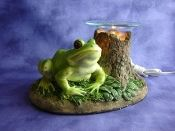 Electric Oil Wax Burner Warmer Diffuser. Great Gift Idea and Decor! http://mkt.com/pure-oils/m-frog #oils #waxtart #warmer #Wax #burner #homedecor #frog #lamp #Soywax #tart #giftideas