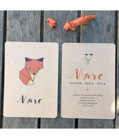 Mooie geboortekaartjes kraftpapier voor een natuurlijke uitstraling waarmee je jouw wondertje op een speciale manier aankondigt.