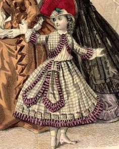 detail from Godeys Ladys Book Oct 1864