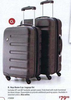 e525fb5a5 Black Friday Ads - Heys Router 2-pc. Luggage Set at Sam s Club Black