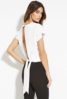 Contemporary Slit Back Top | FOREVER 21 - 2000164639