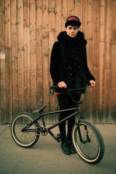 Bmx bike, chocolate hat. sounds like me  Pegless Jam 5. Photo by The Bikerist. www.thebikerist.com l Portraits Of Cyclists In Paris #bmx #paris