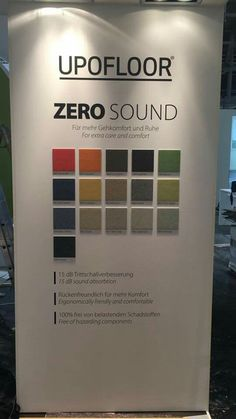 Upofloor Zero Sound launched in BAU fair 2017 (Product development engineer Sanna Weiström)