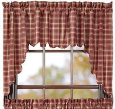 """Kendrick Scalloped Lined Swag Curtains Display simple, country charm in your rooms with our Kendrick swag curtains. These curtains come in a set of two. Each are lined, measure 36x36"""" and has a 16"""" d"""