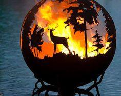Fino Nord fuoco Pit - mano all'aperto su ordinazione taglio acciaio cervi Firepit sfera
