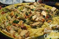 Barefoot Hippie Girl: Spicy Romano Chicken