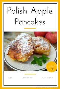Background: Racuchy z jabłkami [ rah-tzu-hiy z ya-boo-kami]. I would not say that the exact term for this recipe is pancakes but rather a cross between pancakes and fritters. Lithuanian Recipes, Ukrainian Recipes, Russian Recipes, Beignets, Breakfast Dishes, Breakfast Recipes, Polish Breakfast, Breakfast Cupcakes, Mexican Breakfast