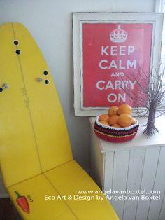 a surf board chair