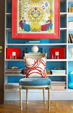 idea-para-decorar-con-pañuelo-seda-enmarcado