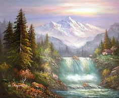 10 Most Amazing Places To Visit (Places You Have to See! Beautiful Paintings Of Nature, Nature Paintings, Beautiful Landscapes, Amazing Places On Earth, Beautiful Places To Visit, Cool Places To Visit, Mountain Landscape, Landscape Art, Landscape Paintings