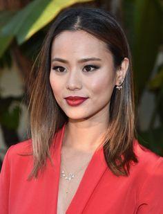 Jamie Chung Medium Straight Cut - Shoulder Length Hairstyles Lookbook - StyleBistro