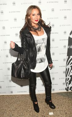 Adrienne Bailon Photos Photos - Adrienne Bailon attends the G-Star Raw Fall/Winter 2010 fashion show at Hammerstein Ballroom on February 16, 2010 in New York City. - G-Star Raw Fall/Winter 2010 - Arrivals