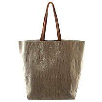 Rubina Leather Tote, Winter White, Sorial Handbag $198