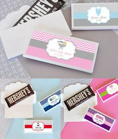 Baby Shower Candy Bar Wrapper Cover Personalized Candy by ModParty