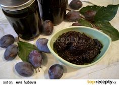 Povidla ze švestek recept - TopRecepty.cz Pudding, Fruit, Desserts, Food, Tailgate Desserts, Meal, The Fruit, Dessert, Eten