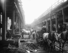 Delancey and Clinton Street  Subway Construction  1907
