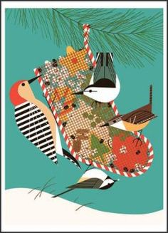 Charley Harper...this is one of two Xmas decorations I brought when I moved to NYC. I am in live with his work
