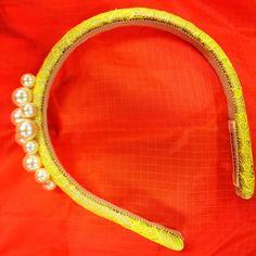 neon  lace Jennifer Behr headband...
