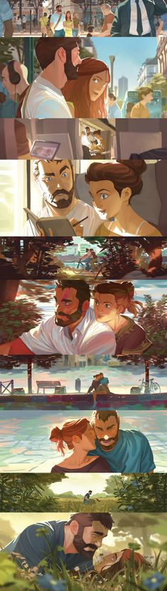 incredible lighting for an illustration Storyboard, Animation, Color Script, Drawn Art, Art Graphique, Fantasy, Art Design, Digital Illustration, Couple Illustration