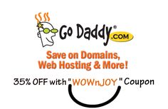 Godaddy Coupons to save on Domain and Web Hosting.. #WOWnJOY