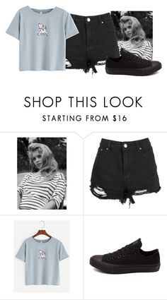 """""""F"""" by gorillalady13 ❤ liked on Polyvore featuring Converse"""
