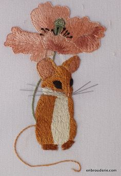Little Mouse Finished | embroidery for ducks