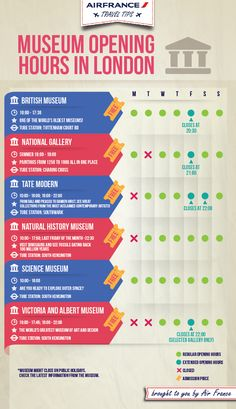 Museum opening hours in #London - Explore the World with Travel Nerd Nici, one Country at a Time. http://TravelNerdNici.com