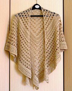 Lace Crochet Shawl Beige Wrap Shawl Gift For Women Mom Wife