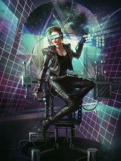 Sci-fi character.