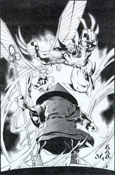 Mad Joe Madureira Pen and ink X-Men #329 inks