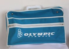 US $38.00 Vintage OLYMPIC Airlines bag Used in Collectibles, Transportation, Aviation