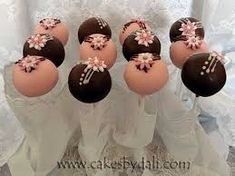 Image result for pink and brown cake pops