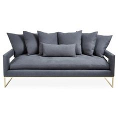 "Check out this item at One Kings Lane! Bevin 85"" Linen Sofa, Gray"