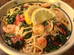 Zesty Shrimp Pasta with Tomatoes and Spinach