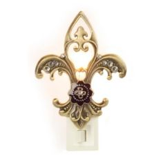 Bronze Fleur-de-lis Night Light | Kirklands