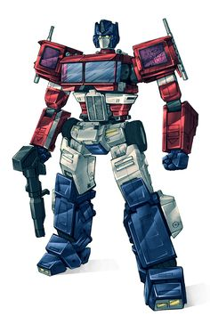 Transformers Autobot - Optimus Prime 2015 colours by Blitz-Wing