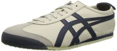 Onitsuka Tiger Mexico 66 Fashion Sneaker,Birch/Indian Ink/Latte,12 US/13.5 Women's M US. Logo heel tab. Pinking-edged overlays. Rubber sole. Sleek, low-cut sneaker known for its popularity during the '68 Mexico Olympic Games. Rubber.
